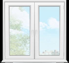двухстворчатое пластиковое окна